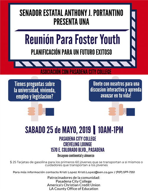 Foster Youth Town Hall Spanish